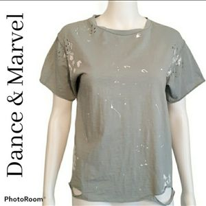 Dance & Marvel Distressed Paint T-Shirt Small